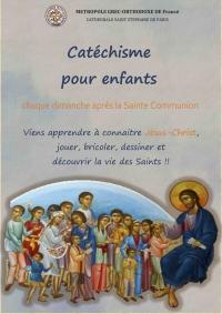 Αφίσα έναρξης κατηχητικών συναντήσεων στον Ορθόδοξο Καθεδρικό Ναό Αγ.Στεφάνου στο Παρίσι