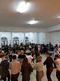 Η κοπή της Αγιοβασιλόπιτας, της Σχολής Παραδοσιακών Χορών της Ιεράς Μητροπόλεως Γλυφάδας, Ε., Β., Β. & Β.