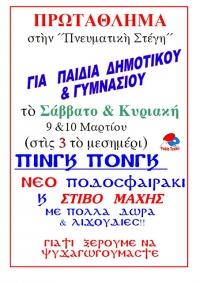 Ι. Μ. Δρυϊνουπόλεως, Πωγωνιανής και Κονίτσης-Πρωτάθλημα για παιδιά δημοτικού και γυμνασίου