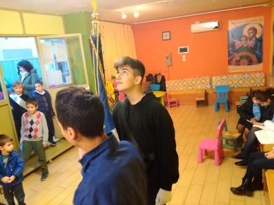 Η συμμετοχή των παιδιών, των Νεανικών Κατηχητικών Συνάξεων, στην Πανήγυρη του Αγίου Στυλιανού Γκύζη